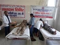 एसएसबी जवानों ने किया रक्तदान