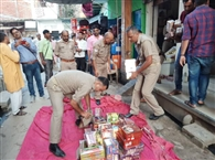 दीपावली के लिए डंप हो रहे पटाखे, प्रशासन मौन