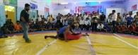 कुश्ती प्रतियोगिता का आगाज, कैमुर का रहा दबदबा