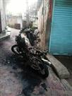 सरकाघाट में शरारती तत्वों ने जलाई बाइक