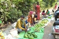 बारिश के कारण बाजार से लोकल सब्जी गायब
