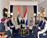 भारत में नीदरलैंड के शाही दंपती, विदेश मंत्री एस जयशंकर से हुई मुलाकात