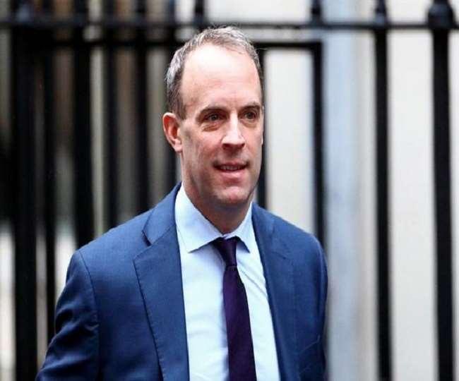 ब्रिटेन के विदेश मंत्री डोमिनिक राब । (फोटो- एएनआइ)