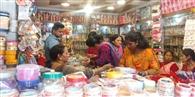 करवाचौथ कल, पौड़ी में खरीददारी को उमड़ी भीड़