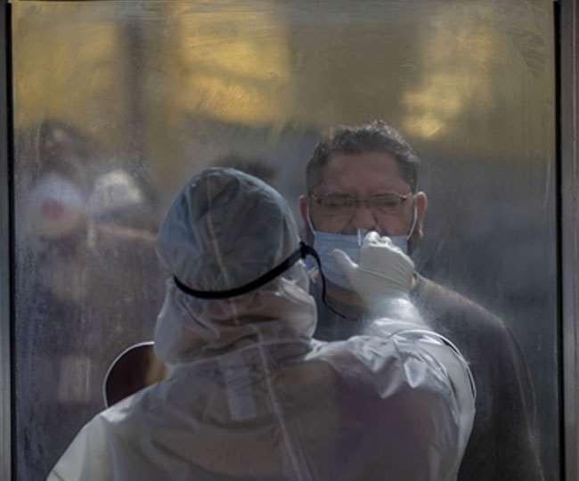 देश में कोरोना वायरस के नए मामलों में गिरावट।