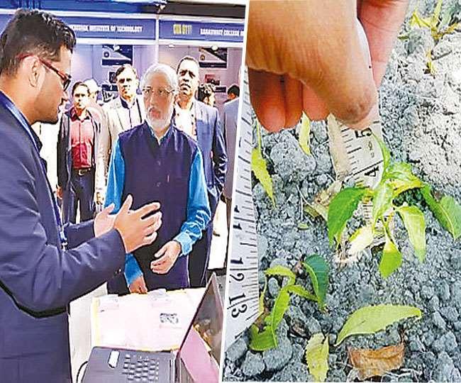 कानपुर एआइसीटीई में रिएक्टर के बारे में जानकारी देते अक्षय श्रीवास्तव (बाएं)। फाइल