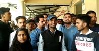 एसजीआरआर कॉलेज में आंतरिक परीक्षा रोककर की तालाबंदी