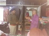 चिकित्सक के घर चोरी मामले में नगर एसपी ने की जांच