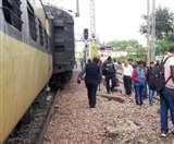 दिल्ली से टूंडला जा रही ईएमयू की दो बोगी अलीगढ़ में पटरी से उतरी, सभी यात्री सुरक्षित Aligarh news