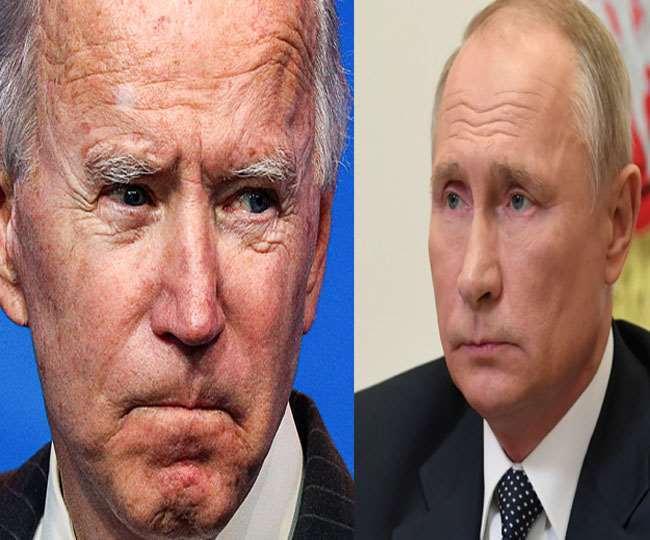 रूसी राष्ट्रपति व्लादिमीर पुतिन व अमेरिका के नवनिर्वाचित राट्रपति जो बाइडन। फाइल फोटो।