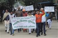 भाकियू ने अवैध फसल खरीद मामले में कार्रवाई की मांग को किया प्रदर्शन