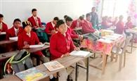 पद्मावती जैन सरस्वती शिशु विद्या मंदिर में हुई संस्कृति ज्ञान परीक्षा