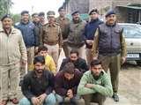 अंतरराज्यीय चोर गिरोह के पांच सदस्य गिरफ्तार, बैटरियां चुराने का है आरोप
