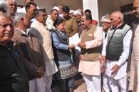 जाट आरक्षण संघर्ष समिति ने कांग्रेस विधायकों को सौंपा ज्ञापन