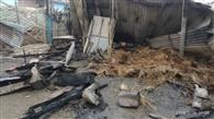 शॉट सर्किट से घर में लगी आग, चार घर जलकर राख