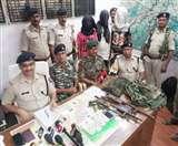 नक्सलियों के मंसूबों पर बिहार पुलिस ने पानी फेरा, गया में तीन नक्सली हथियार के साथ पकड़ाए