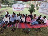 बीएयू में विज्ञानियों की भूख हड़ताल दूसरे दिन भी जारी