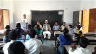विनोबा पुण्यतिथि पर चेतना विकास मूल्य शिक्षा कार्यक्रम का आयोजन