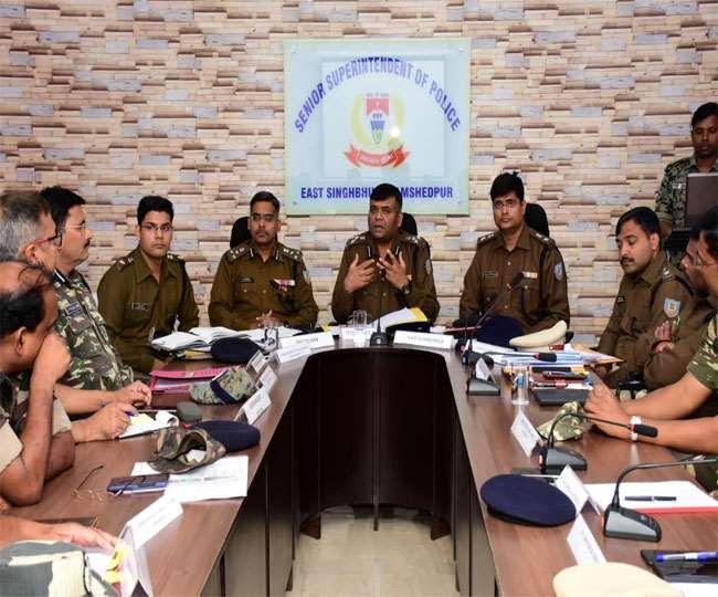 Jharkhand Assembly Election 2019: अंतर राज्यीय समन्वय बैठक में शांतिपूर्ण मतदान की बनी रणनीति, डीआइजी-एसपी रहे मौजूद