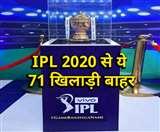 IPL 2020 से पहले बड़ा ऐलान, 8 टीमों से निकाले गए 71 खिलाड़ी; ये बड़े नाम भी हैं शामिल