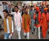 एएमयू के छात्रों के खिलाफ सड़कों पर उतरे हिंदूवादी, कहा- हिंदुत्व का अपमान सहन नहीं Aligarh news