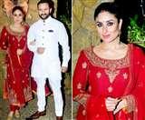 Kareena Kapoor In Ravishing Red: भाई अरमान जैन के रोका सेरेमनी में इस अंदाज़ में दिखीं करीना कपूर!