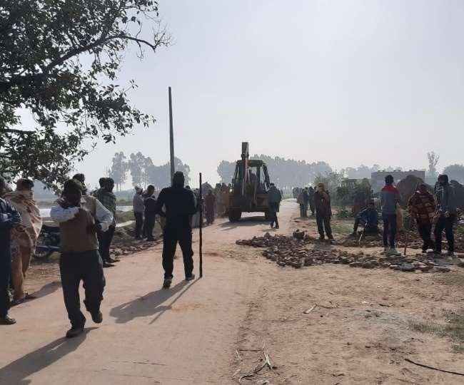 करनाल में जमीनी विवाद की वजह से खूनी संघर्ष ।