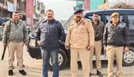 जुमा की नमाज के दौरान पुलिस प्रशासन रहा अलर्ट