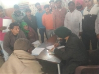 धनौरी निश्शुल्क शिविर में 235 मरीजों की जांच
