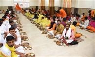 विश्वनाथ धाम में अन्न क्षेत्र शुरू, एक हजार ने ग्रहण किए प्रसाद