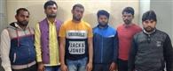 सुपारी लेकर कपड़ा व्यापारी की हत्या करने जा रहे छह बदमाश गिरफ्तार