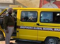 प्रशासन ने स्कूल वाहनों पर कसा शिकंजा, 65 स्कूली बसों के काटे चालान