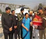 रामपुर पहुंचीं राज्यपाल आनंदी बेन पटेल, रजा लाइब्रेरी का किया निरीक्षण Rampur News
