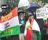 पाकिस्तान में हिंदू लड़की के जबरन धर्म परिवर्तन और शादी के खिलाफ ब्रिटेन में प्रदर्शन