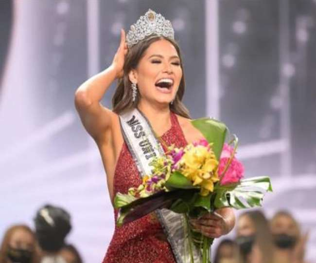 Mexican Andrea Meza won the crown of Miss Universe Indian contestant Adline  Castelino missed the title
