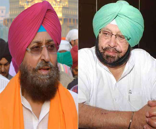 कांग्रेस सांसद प्रताप सिंह बाजवा और सीएम कैप्टन अमरिंदर सिंह की फाइल फोटो।