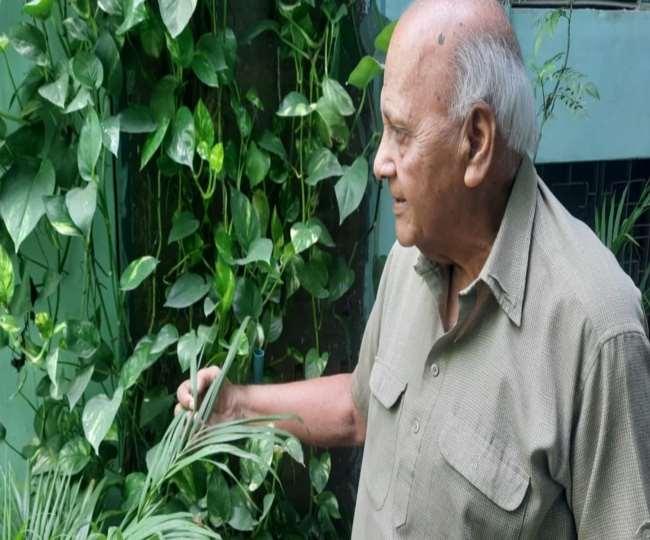 सेवानिवृत्त वायु सेना अधिकारी रुपेंद्र कश्यप हरियाली बचाने के लिए लड़ रहे हैं।