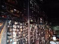 इलेक्ट्रॉनिक की दुकान में लगी आग, लाखों का सामान जला