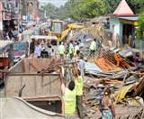 अतिक्रमण पर चला निगम का बुलडोजर, सैकड़ों अवैध दुकानें ध्वस्त Muzaffarpur News