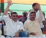 Haryana Assembly Election 2019: सनी देयोल की झलक पाकर बेकाबू हुई भीड़़, लहराया ढ़ाई किलो का हाथ