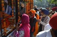 गुरुद्वारा नौवीं पातशाही से शहीदी दिवस पर नगर कीर्तन सजाया