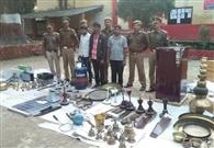 दो लाख का माल बरामद, तीन शातिर चोर गिरफ्तार