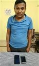 चोरी के दो मोबाइल के साथ एक गिरफ्तार