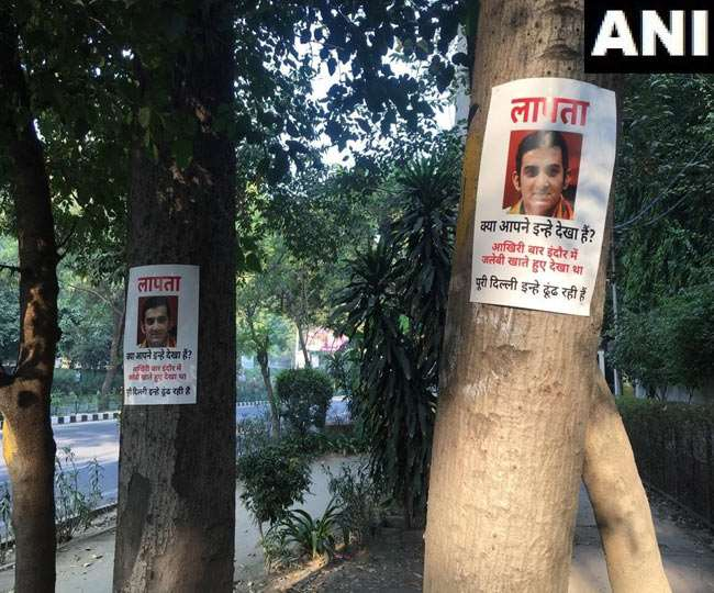 Image result for BJP MP Gautam Gambhir's disappearance poster posted at ITO