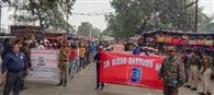 नालंदा खंडहर के निकट एनसीसी कैडेटों ने निकाली रैली, आज बनाएंगे श्रृंखला