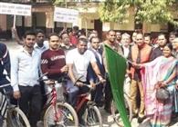 एबीएम कालेज में फिट इंडिया साइक्लोथॉन अभियान का हुआ शुभारंभ