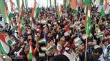 नागरिकता संशोधन कानून एवं एनआरसी के विरोध में हसनपुर में निकाला शांति मार्च Amroha news