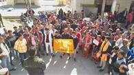 रोजगार की मांग कर रहे ग्रामीणों ने निकाली रैली