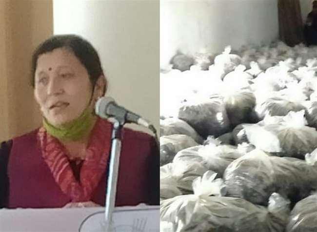 स्वयं सहायता समूह की सदस्य वीना ठाकुर।