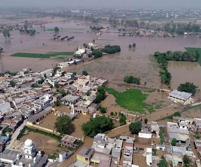 दक्षिण हरियाणा को पानी देने वाली नहर टूटी, गांव में बाढ़ जैसे हालात से अफरातफरी